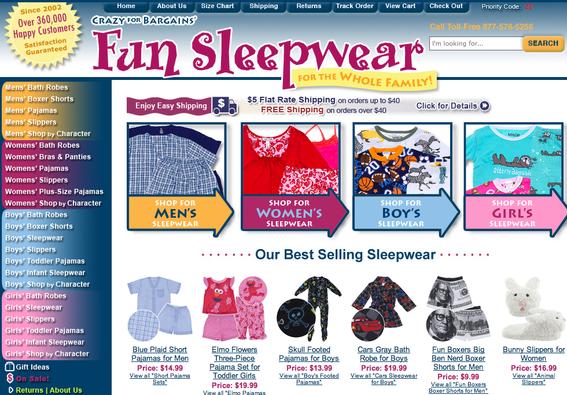 Главная страница онлайн-магазина CrazyForBargains