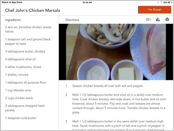 Приложение для iPad от Allrecipes.com