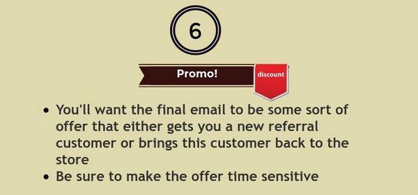 В финальном письме вы должны разместить такой оффер, который либо приведет к вам нового клиента, либо убедит имеющегося вернуться в ваш магазин.