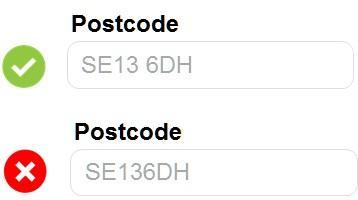 Часть пользователей при указании почтового индекса забывает поставить пробел