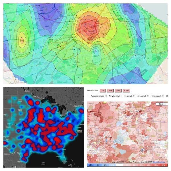 Тепловые карты — только один из видов карт плотности (density maps)