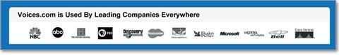 чтобы внушить посетителям чувство уверенности в высоком качестве предоставляемых услуг, были добавлены логотипы компаний, которые уже являются клиентами сервиса