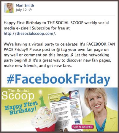 Приглашение на «виртуальную вечеринку», размещенное в Facebook