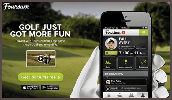 Главная страница сайта приложения Foursum