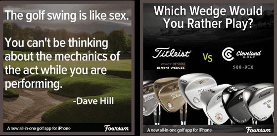 брендовое изображение с цитатой, принадлежащей американскому профессиональному игроку в гольф Дэйву Хиллу (Dave Hill)