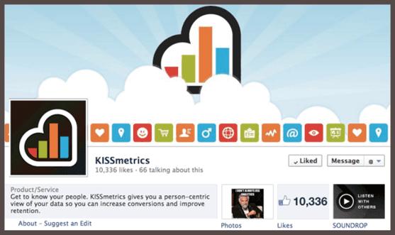 Страница KISSmetrics на Facebook