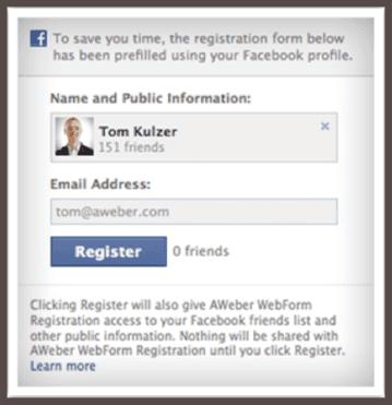 Панель управления инструментом Facebook Connect