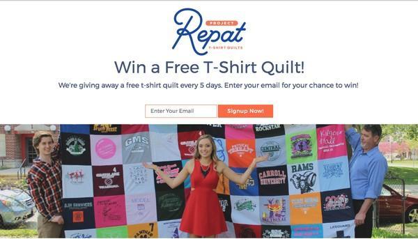 «Выиграйте бесплатное лоскутное одеяло! Мы разыгрываем оригинальное «футбольное» одеяло каждые 5 дней. Введите свой email, чтобы получить шанс на выигрыш!»