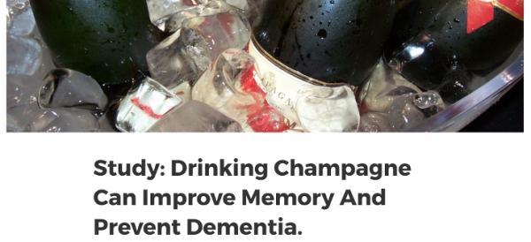 Научное исследование подтвердило, что шампанское улучшает память и предотвращает слабоумие