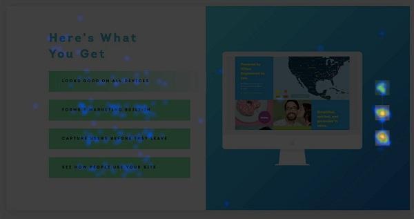 люди кликают на варианты справа от изображения, что позволяет переключать его на другое и показывать различные возможности