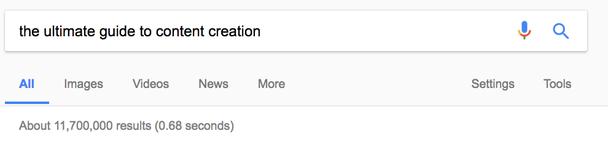 «Самое полное руководство по созданию контента» — 11 700 000 результатов