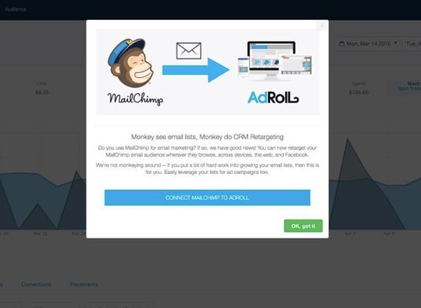 Adroll и MailChimp одновременно