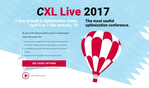 Иллюстрация к статье: 15 уроков оптимизации конверсии от спикеров CXL Live 2017