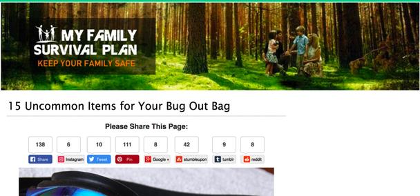 Пакет для выживания «Моя семья». Сохраните семью в безопасности
