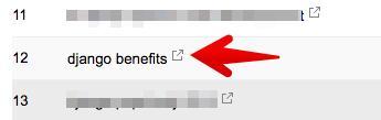 Вы можете посетить страницу, на которую ведет данный запрос, кликнув на иконку рядом с ним