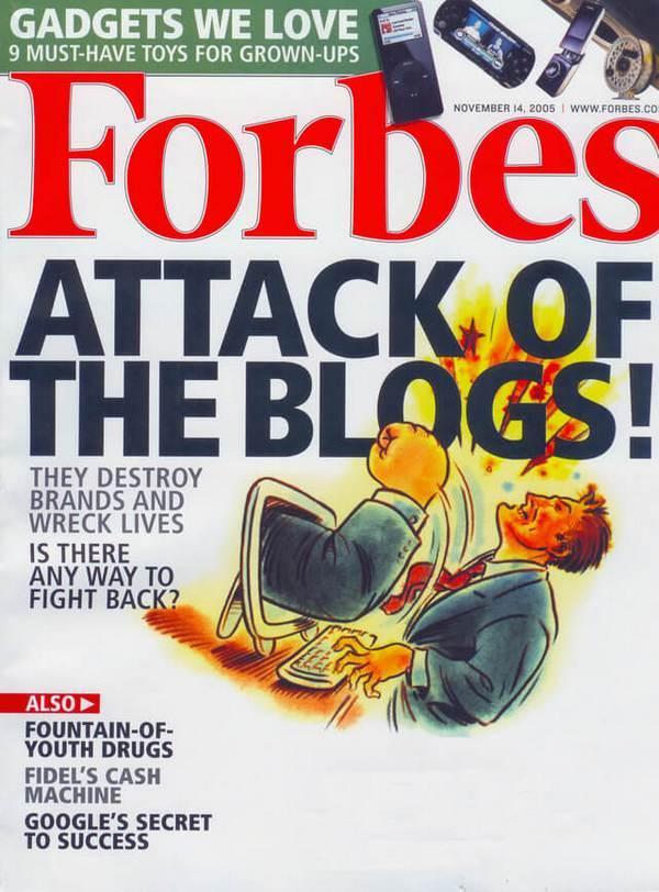 Forbes: «Атака блогов! Они разрушают бренды и губят жизни. Есть ли способ дать отпор?»