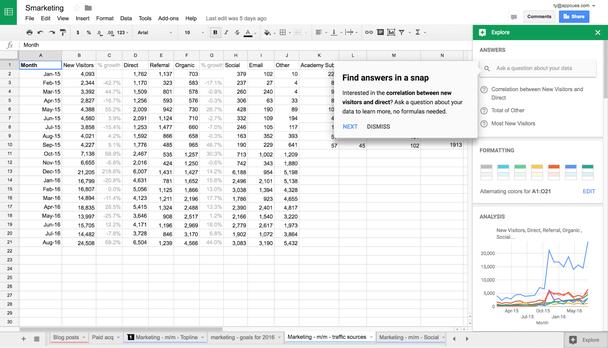 Google использует подсказку в приложении, предлагая начать пошаговое обучение