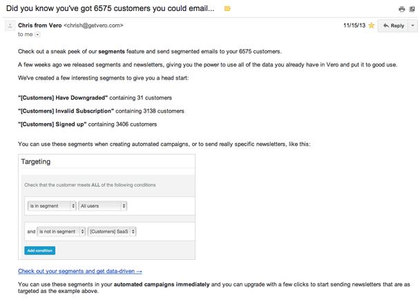 Vero отправила этим пользователям следующий email