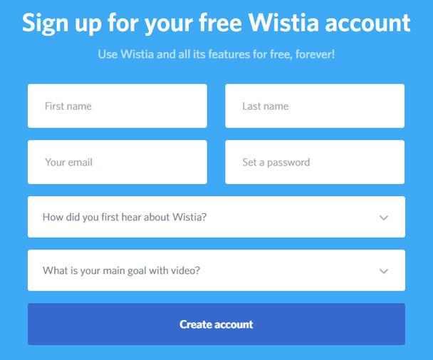 Пример от Wistia