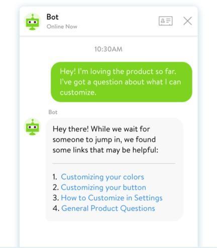 предоставление ответов на вопросы, которые уже есть в базе FAQ