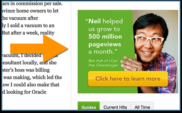 Нил помог нам вырасти до 500 000 000 просмотров страницы в месяц. Нажмите здесь, чтобы узнать больше