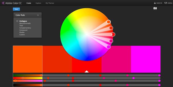 Adobe Color CC Color Wheel