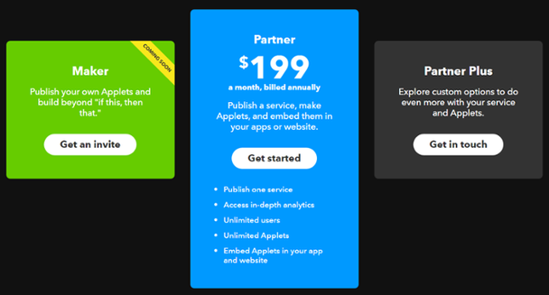 IFTTT - Charm Pricing Example
