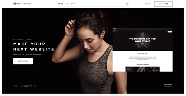 Squarespace website color