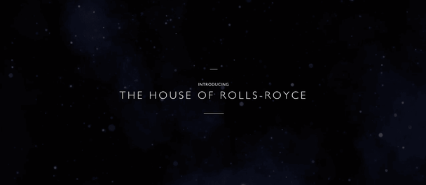 Rolls Royce black background website homepage