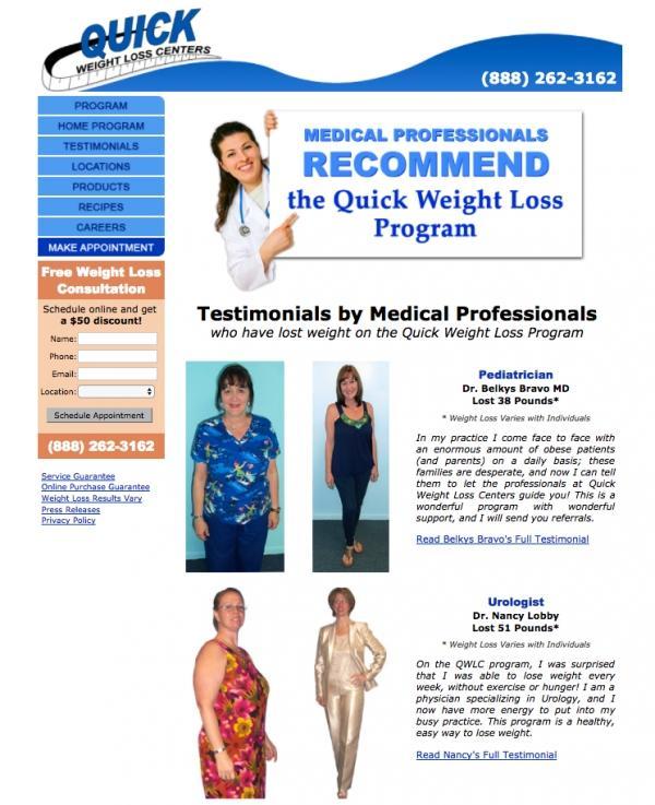 На странице представлены отзывы врачей, сбросивших вес по программе Центра