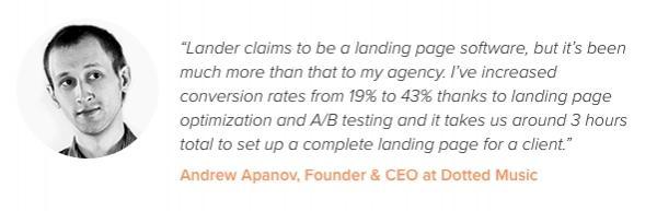 «Я увеличил показатель конверсии с 19% до 43%... около 3 часов уходит на создание посадочной страницы для клиента».