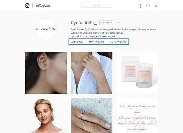 Instagram-аккаунт бренда By Charlotte после применения описанной стратегии
