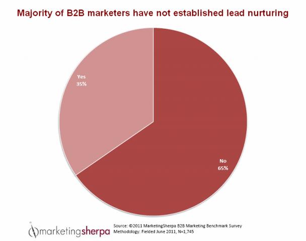 Согласно отчету MarketingSherpa за 2012 год, у 65% компаний вообще нет стратегии выращивания лидов (Lead Nurturing)