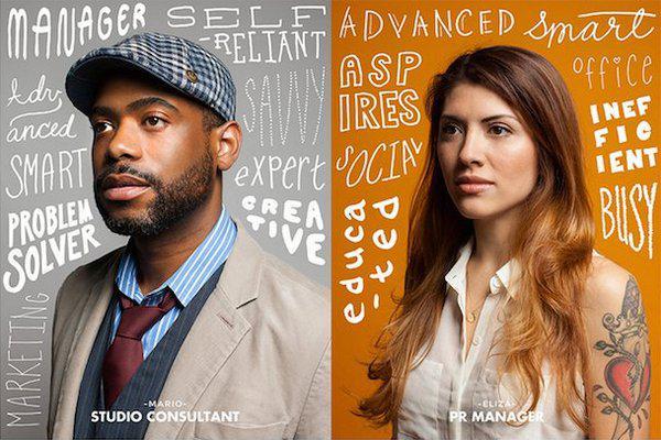 MailChimp создал графику с изображениями реальных людей для представления различных сегментов своей клиентской базы.