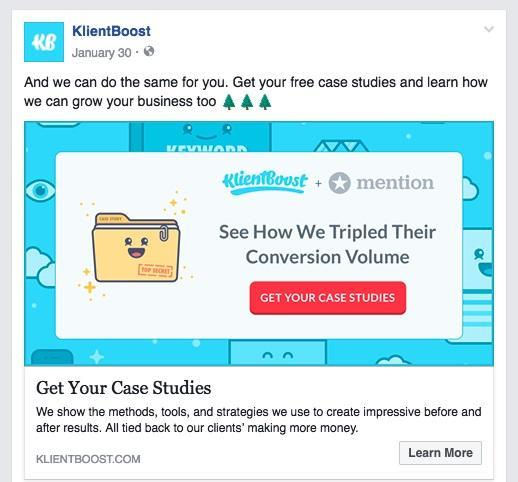 Реклама KlientBoost для того, кто ищет больше информации