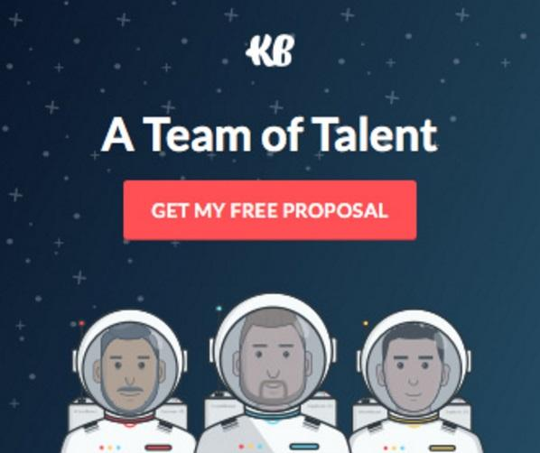 Реклама KlientBoost: «Получить бесплатное предложение»