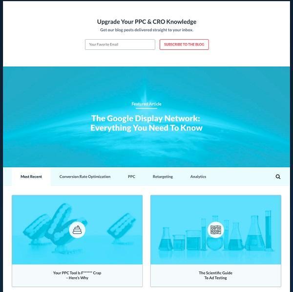 Блог KlientBoost демонстрирует единообразие формата и изображений.