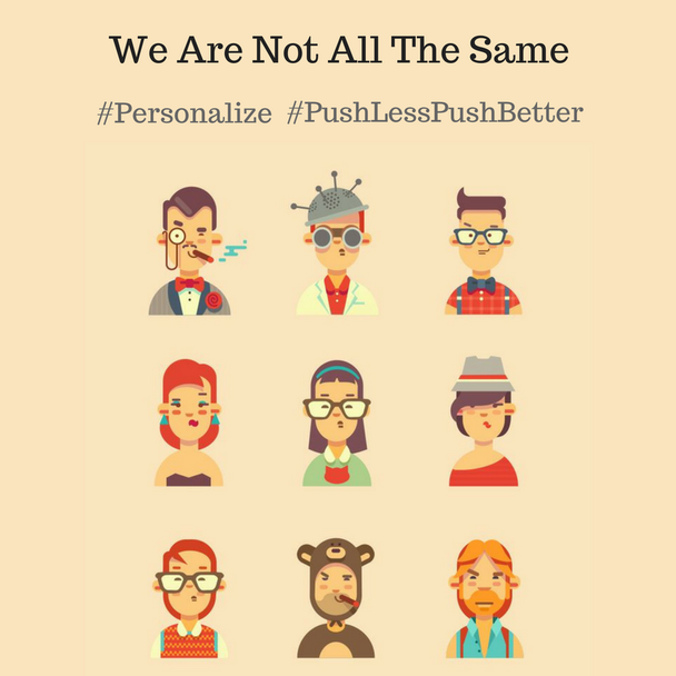 Push-уведомления помогают сегментировать пользователей согласно их поведению и интересам