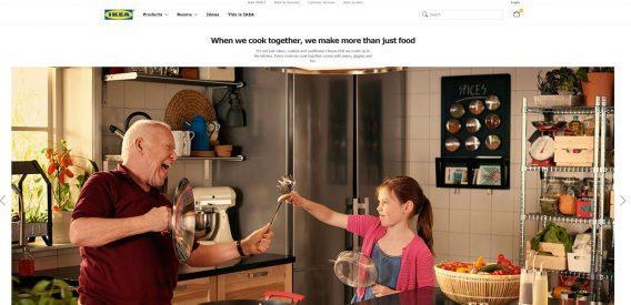 Главная страница сайта IKEA