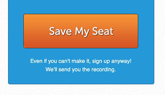 Забронировать место. Даже если вы не сможете присутствовать на мероприятии, все равно жмите. Мы отправим вам запись.