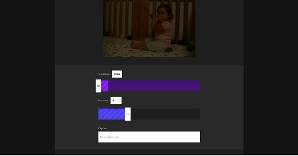 С помощью ползунков выберите тот фрагмент видео, который и станет вашей GIF-анимацией