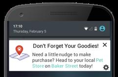 Пример триггеров на основе поведения на устройстве с Android