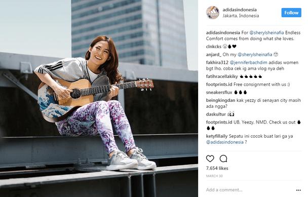 Adidas в Instagram