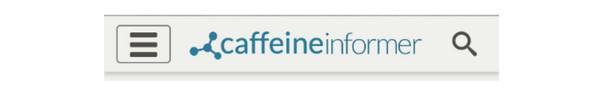 Caffeine Informer — иконка-гамбургер