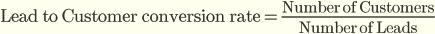 Уровень конверсии лидов в клиенты = Количество клиентов / Количество лидов