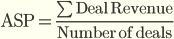 Средняя цена сделки (Average Selling Price, ASP)
