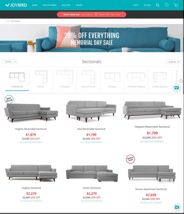 Иллюстрация к статье: Идеальный UX для онлайн-магазинов:  кейс на примере Joybird.com