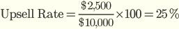 Показатель апсейла и кросс-сейла (Upsell & Cross-sell Rate)