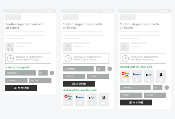 Обратите внимание: для этого эксперимента iOS-устройства не отображали Google Wallet, а Android-смартфоны — Apple Pay.