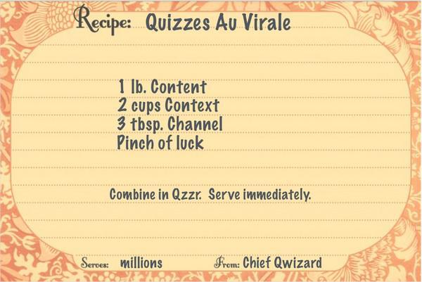 Рецепт для создания вирусных тестов: 1 фунт контента, 2 чашки контекста, 3 ст. ложки канала, щепотка удачи